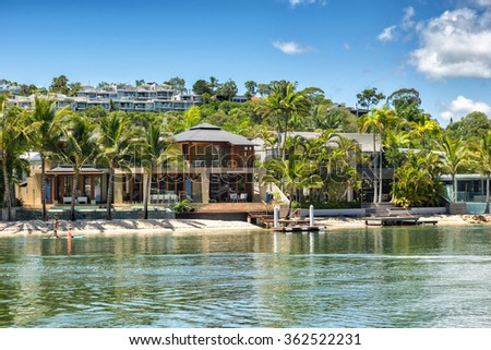 Noosa Heads on the Queensland coast - stock photo