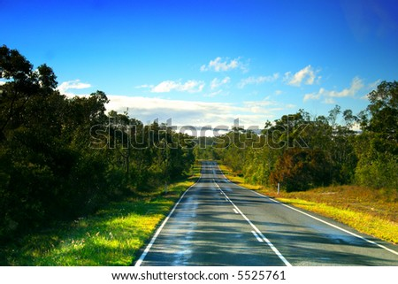 Noosa is located on the Sunshine Coast in South East Queensland, Australia - stock photo