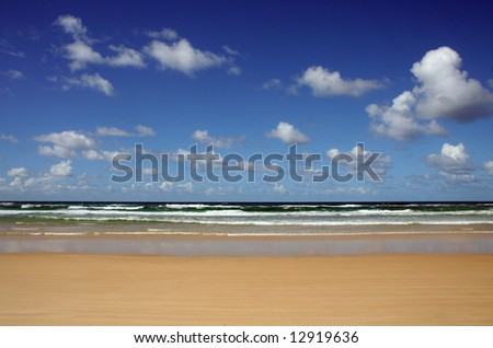 Noosa North Shore beach and clouds, Sunshine Coast, Queensland, Australia