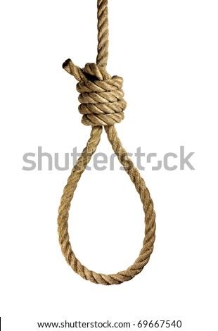 noose made of plastic-rope - stock photo