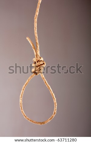 Noose made of rope - stock photo