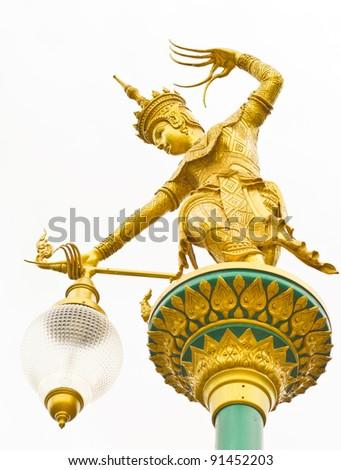 Nora Street Lamp, Hat-Yai, Songkhal, Thailand - stock photo