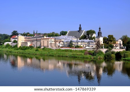 Norbertine convent, nunnery and the church of St. Augustin and St John the Baptist at Vistula River in Cracow, Poland - stock photo