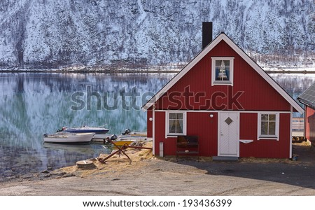Nordic architecture. House - stock photo
