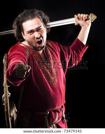 Nordic Warrior - stock photo