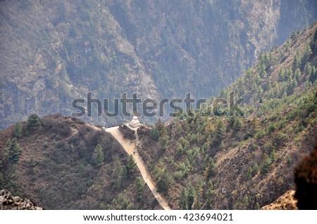 Norgay Tenzing Monument - Himalayas, Nepal. - stock photo