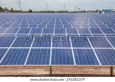 Normal photovoltaic  solar power landscape - stock photo