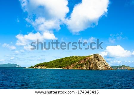 Normand island in the British Virgin Islands - stock photo