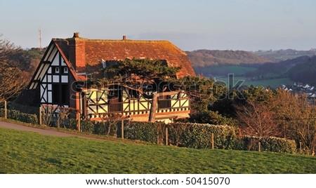 normandy house - stock photo