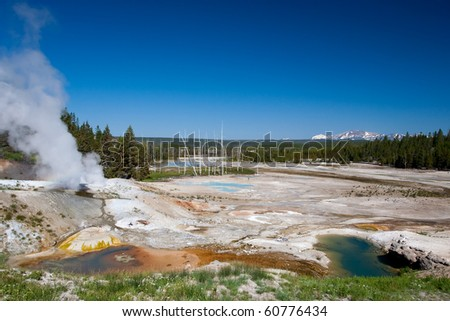 Norris Geyser Basin - stock photo