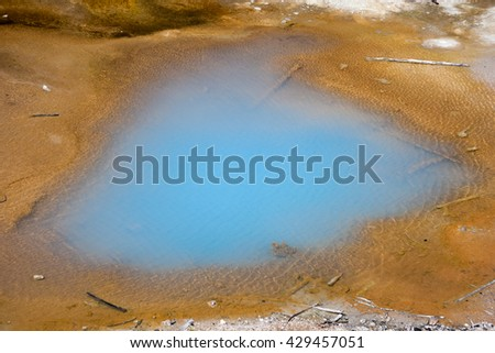 Norris Geyser Basin at Yellowstone National Park, Wyoming, USA - stock photo