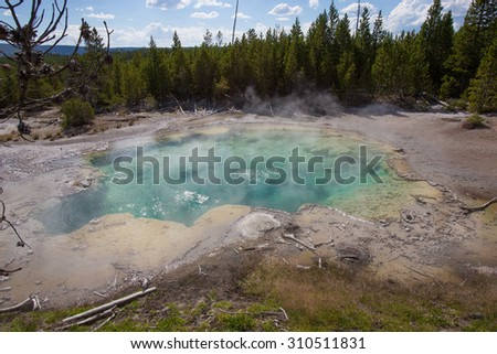 Norris Geyser Basin, Yellowstone National Park - stock photo