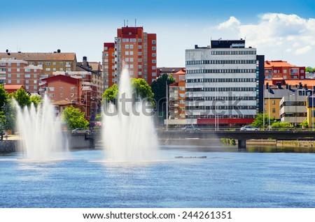 Norrkoping city. Ostergotland, Sweden. Scandinavia - stock photo