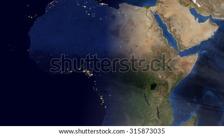 North African Space View (Elements of this image furnished by NASA)
