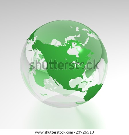 north america crystal globe