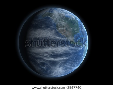 North America Globe - stock photo