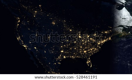 North america night lights world map stock illustration 528461191 north america night lights world map composition elements of this image furnished by nasa publicscrutiny Images