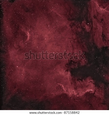 North American and Pelican Nebula - stock photo
