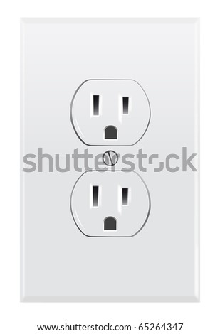 North American electrical outlet - stock photo