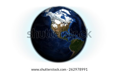 North American Globe Isolated (Elements of this image furnished by NASA)