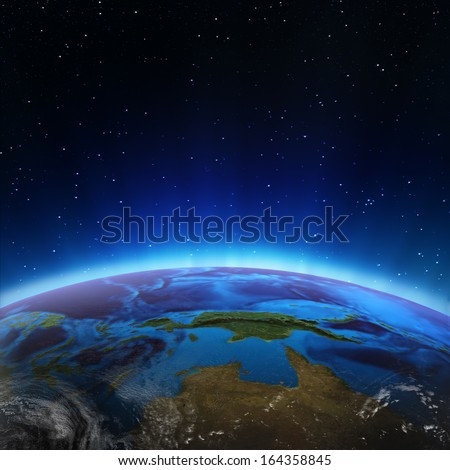 North Australia and Oceania. Elements of this image furnished by NASA