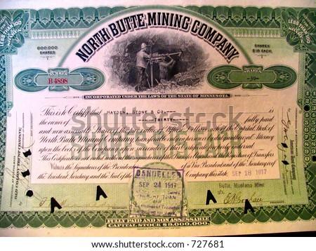 north butte certificate - stock photo