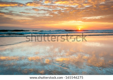 North Carolina Outer Banks Cape Hatteras National Seashore Beach Sunrise - stock photo