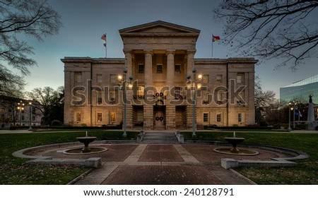 North Carolina State Capitol building in Raleigh, North Carolina - stock photo