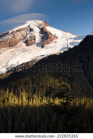 North Cascades Mt. Baker Heliotrope Ridge Glacier Peaks - stock photo