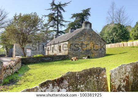 North Clare Farmhouse in Bunratty Folk Park - Ireland. - stock photo