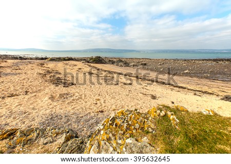 North Down Coastline, Northern Ireland. Rocks, sand and the shore between Belfast and Bangor.
