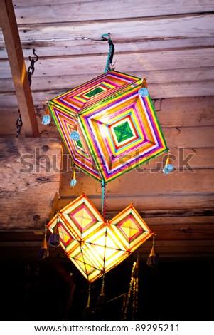north east thai lantern pattern,Loei,Thailand - stock photo