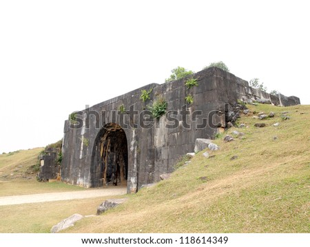 North Gate, Citadel of the Ho Dynasty in Thanh Hoa, Vietnam - a UNESCO World Heritage Site