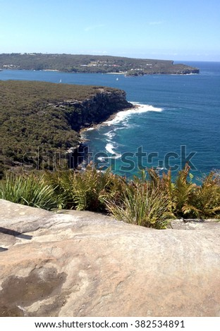 North Head from Rock Outcrop - Sydney Heads / Headlands (Sydney, Australia) - stock photo