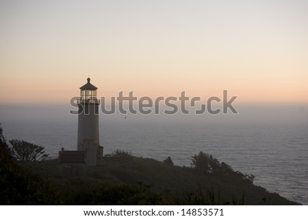 North Head Lighthouse, Ilwaco, Washington, at sunset