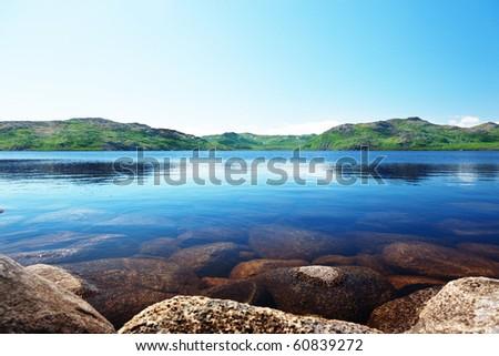 north mountain lake - stock photo
