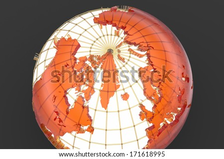 North pole - stock photo