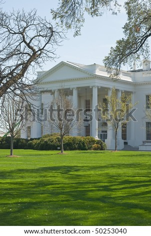 North Portico of the White House in Washington - stock photo