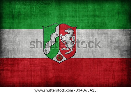 North Rhine-Westphalia flag pattern , retro vintage style