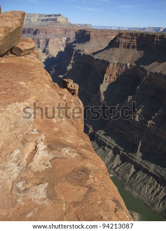 North Rim of the Grand Canyon - stock photo