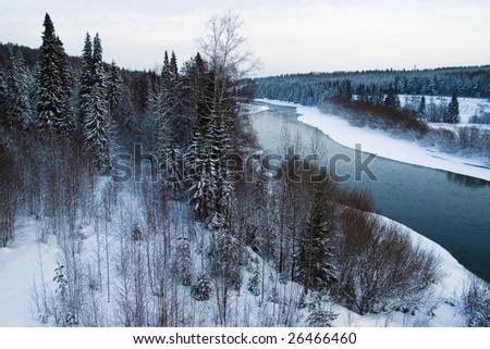 north river in Russia - stock photo