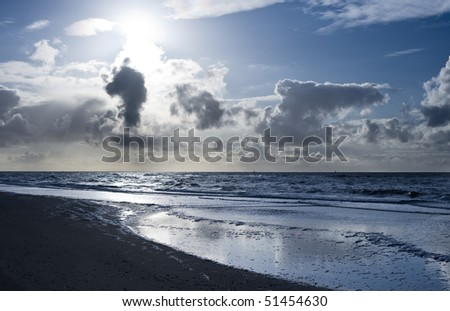 North Sea bank with clouds