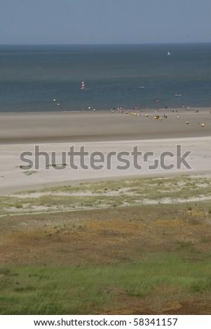 North Sea Coast in Knokke, Belgium - stock photo