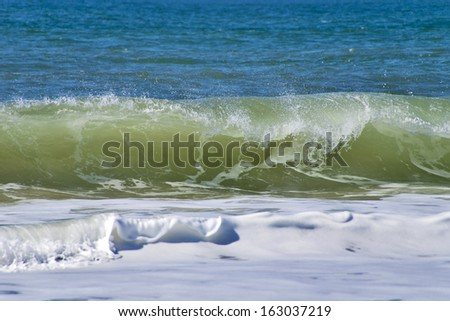 North Sea wave - stock photo