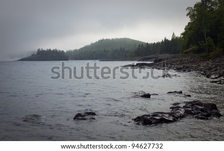 North Shore of Lake Superior, Minnesota, USA - stock photo