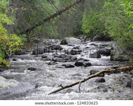 North St.  Vrain   Creek, , Rocky Mountain national park, Colorado - stock photo