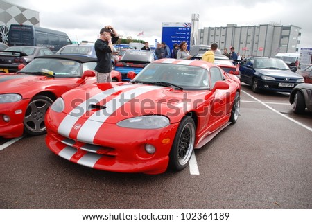NORTHAMPTON, ENGLAND - SEPTEMBER 7: Dodge Viper GTS on September 7, 2008 in Northampton, England, UK. Silverstone Race Circuit is Host to Annual Trax Automotive Show
