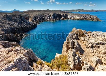 Northern coastline of Menorca,Balearic Islands,Spain - stock photo