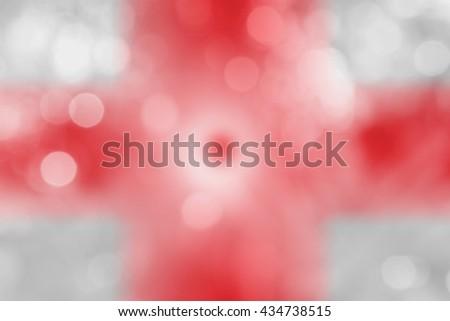 NORTHERN IRELAND : National flag. Soft blurred bokeh natural background. Abstract gradient desktop wallpaper.  - stock photo