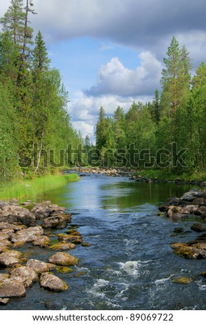 Northern landscape - stock photo
